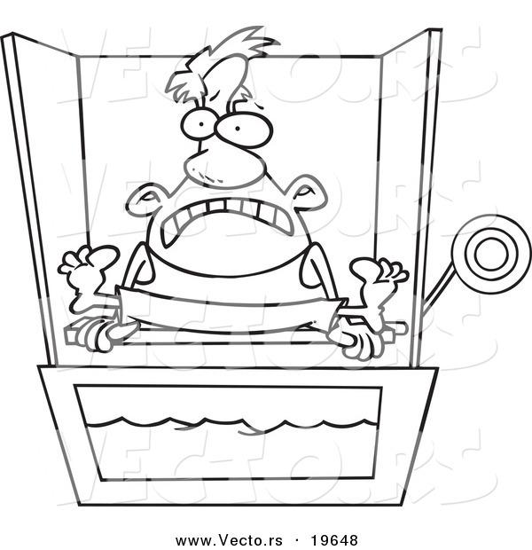 dunking booth cartoon