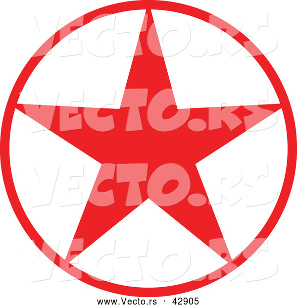 Vector of a Christmas Star in Red Circle