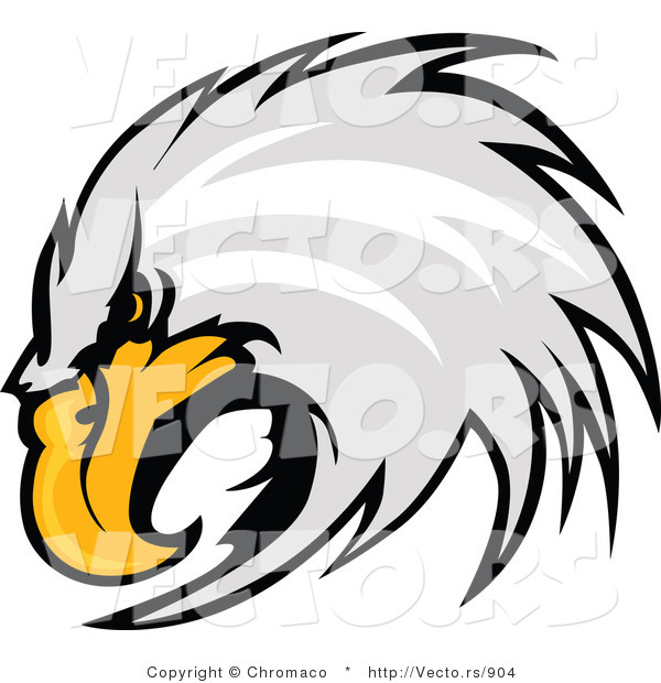 Vector of a Competitive Bald Eagle