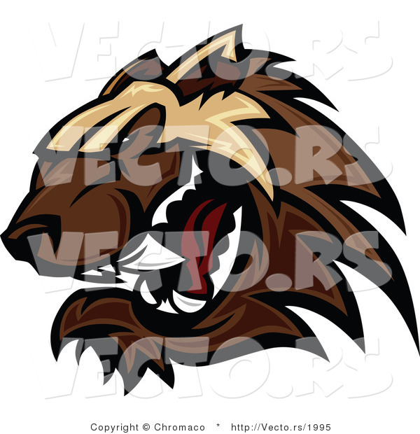 Vector of a Defensive Cartoon Wolverine Mascot Growling Aggressively