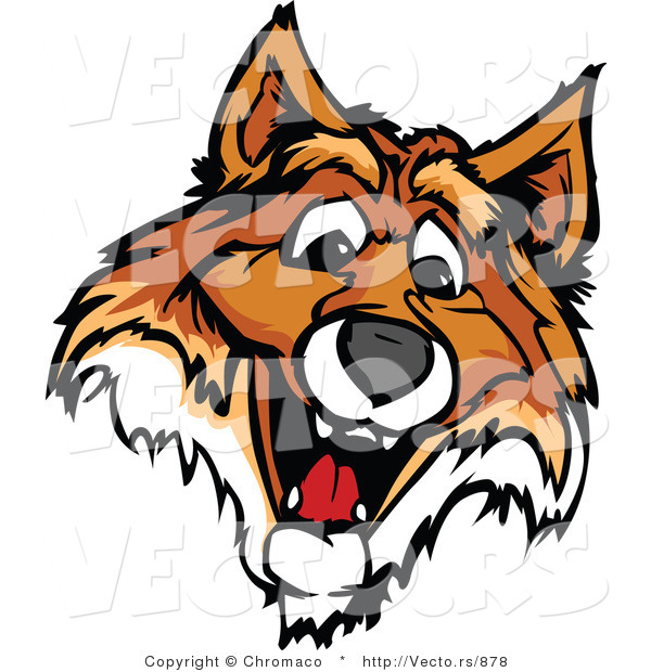 Vector of a Friendly Young Fox Mascot