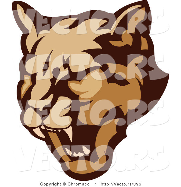 Vector of a Growling Cougar Preparing to Attack