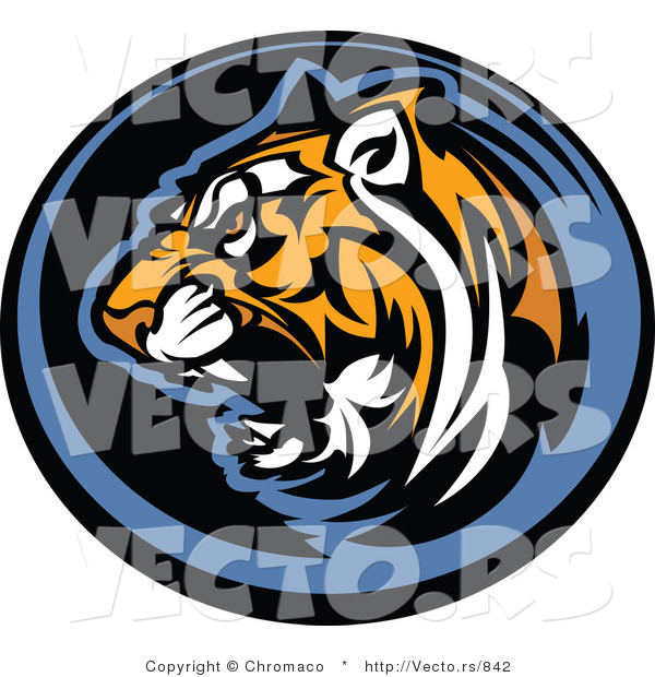 Vector of a Growling Tiger Icon