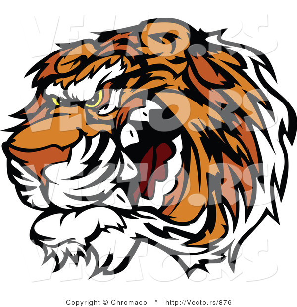 Vector of a Growling Tiger Preparing to Attack