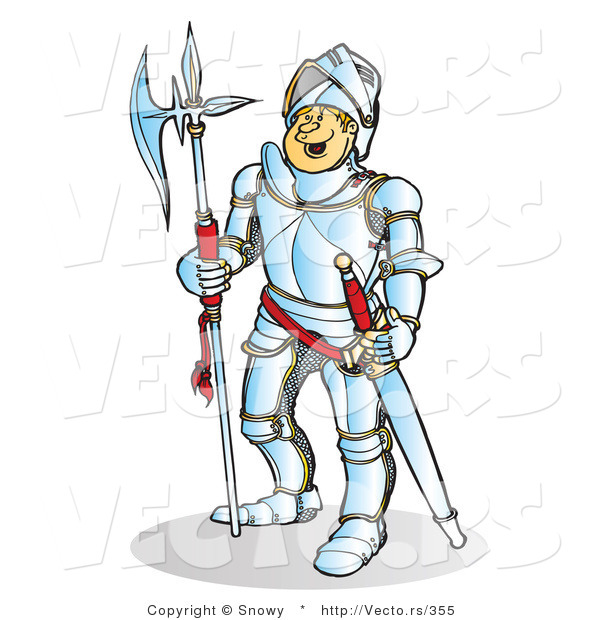 High resolution royalty free vector graphic of a happy knight smiling ...: vecto.rs/design/vector-of-a-happy-knight-smiling-by-snowy-355