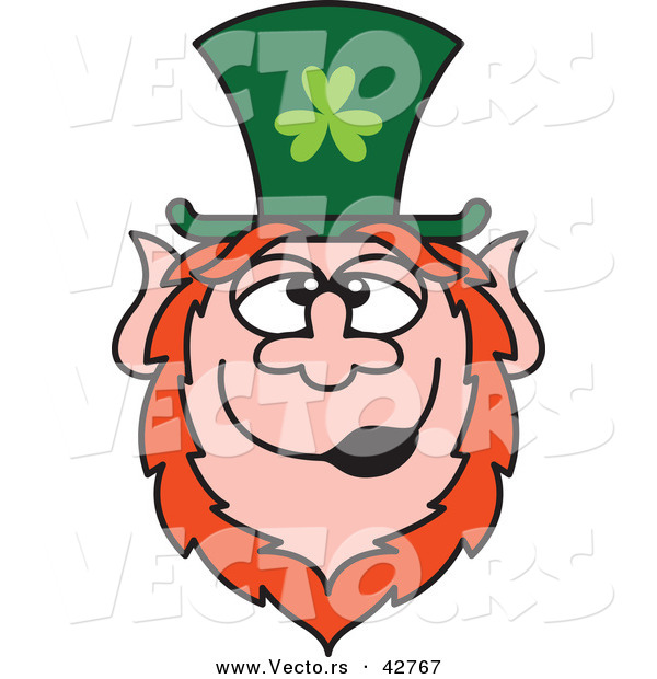 Vector of a Happy St. Paddy's Day Cartoon Leprechaun