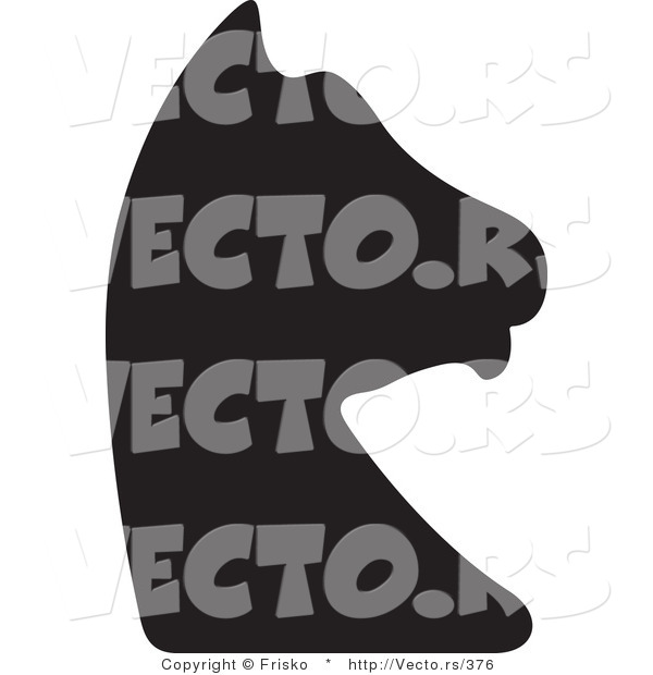 Vector of a Knight Chess Piece Silhouette