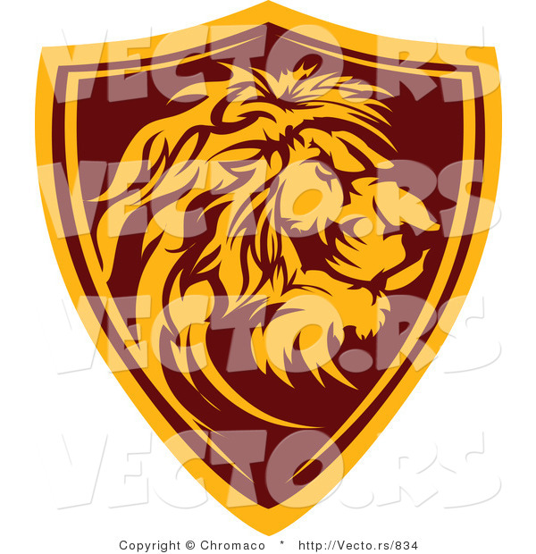 Vector of a Lion Shield Badge