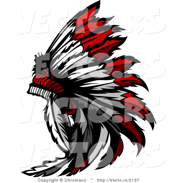 Vector of a Native American Feather Headdress