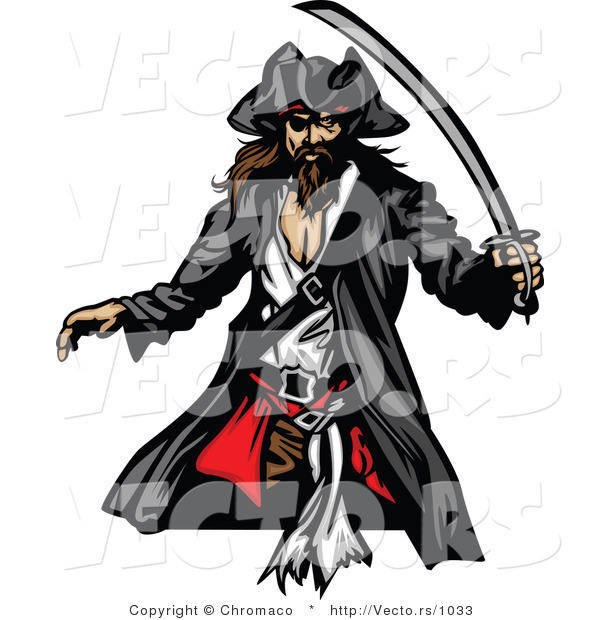 Vector of a Pirate with Sword