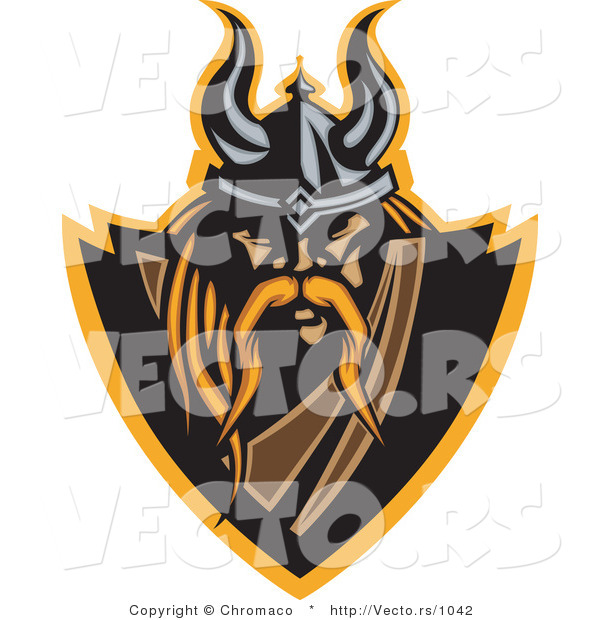 Vector of a Powerful Viking Warrior Icon