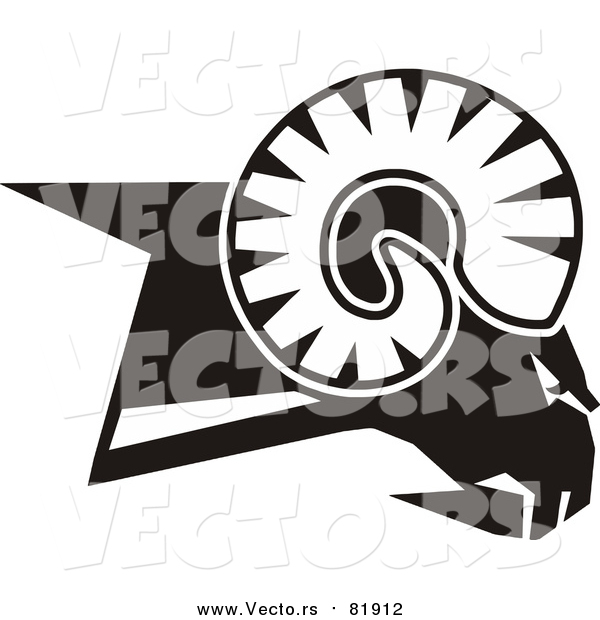 Vector of a Rams Head - Sports Mascot Art