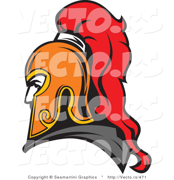 Vector of a Roman Soldier Profile Avatar