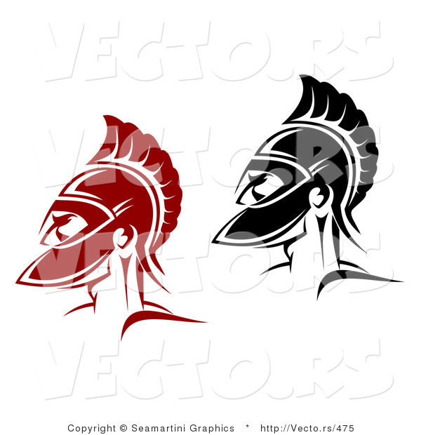 Vector of a Roman Soldiers - Red and Black Versions