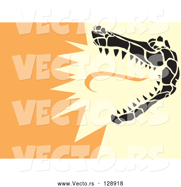 Vector of a Snapping Alligator
