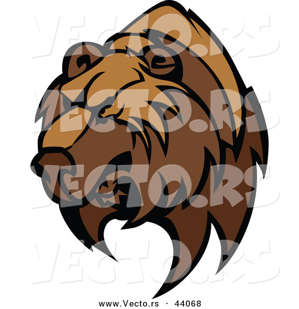 Vector of a Strong Competitive Brown Bear Mascot
