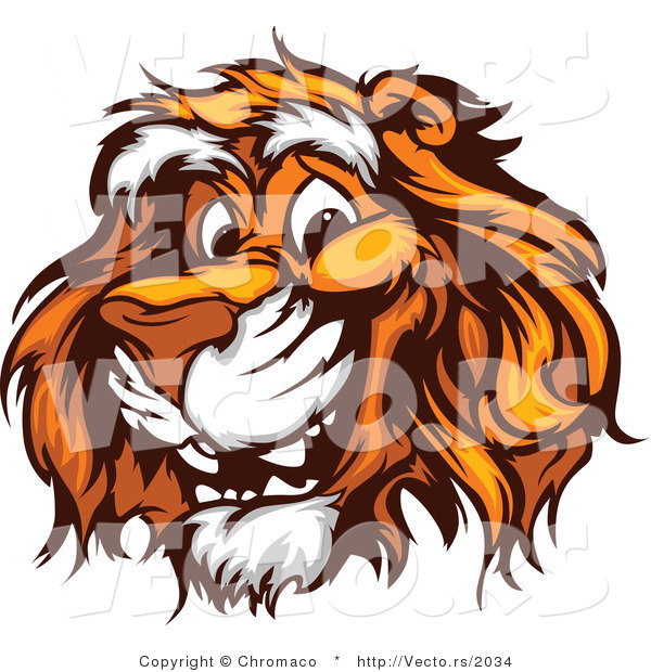 Vector of a Young Cartoon Tiger with Friendly Smile