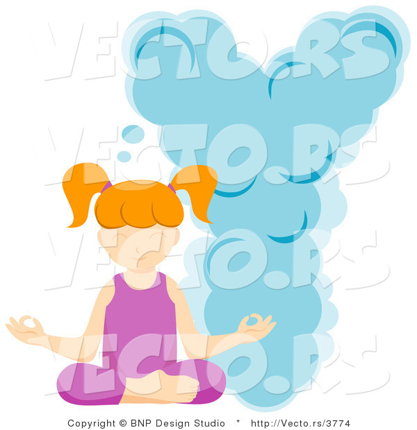 Vector of Alphabet Letter Y with a Yoga Girl