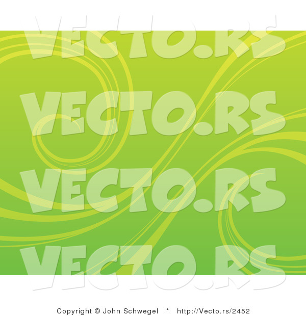 Vector of an Organic Green Background with Curling Vines