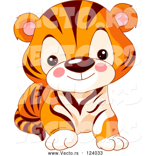Vector of Baby Zoo Tiger Cub