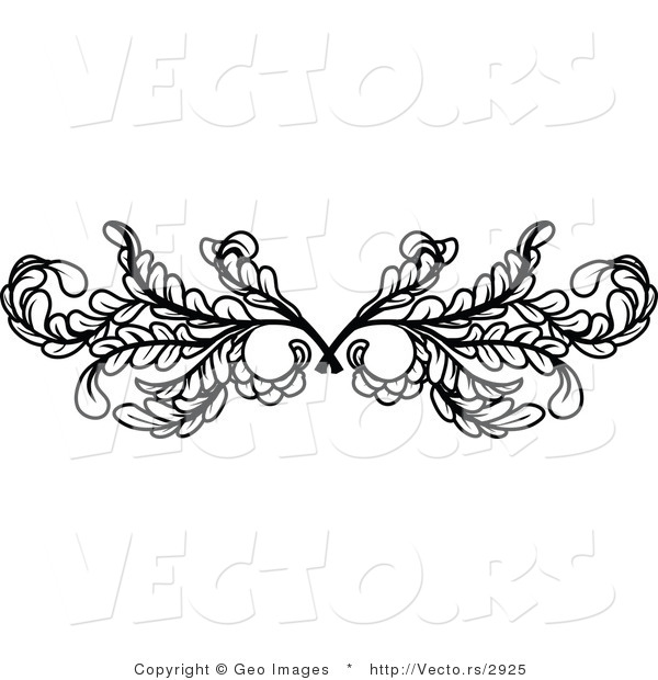 vector of black leafy swirl butterfly tattoo design element border background by geo images 2925. Black Bedroom Furniture Sets. Home Design Ideas