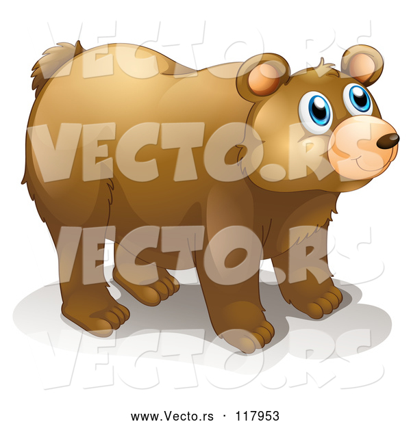 Vector of Blue Eyed Bear