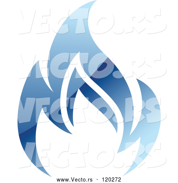 Vector of Blue Flame Natural Gas Logo
