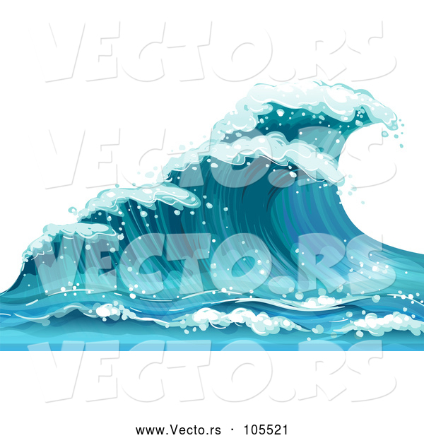 Vector of Blue Ocean Wave
