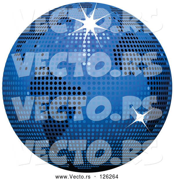 Vector of Blue Sparkly Disco Ball Globe