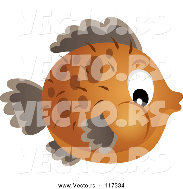 Vector of Brown Blowfish