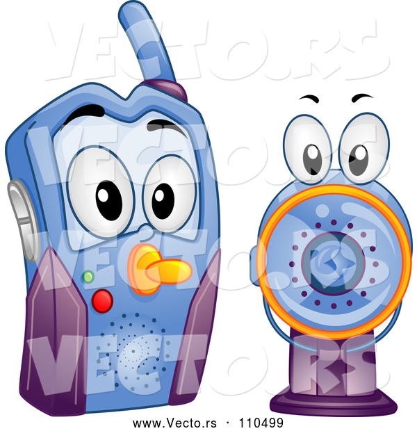 Vector of Cartoon Baby Video Monitor