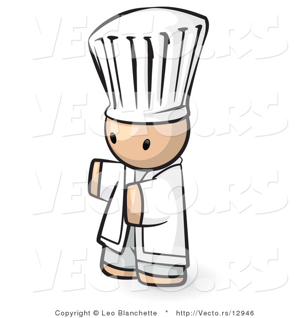 Vector of Cartoon Chef with Arms Held out