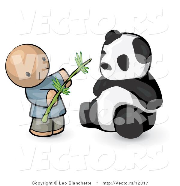 Chinese Panda Vector Vector of Cartoon Chinese Guy