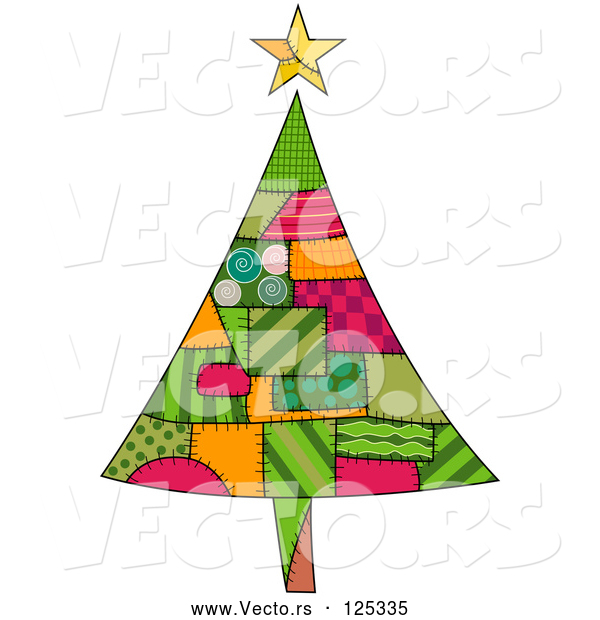 : Vector of Christmas Tree of Patches