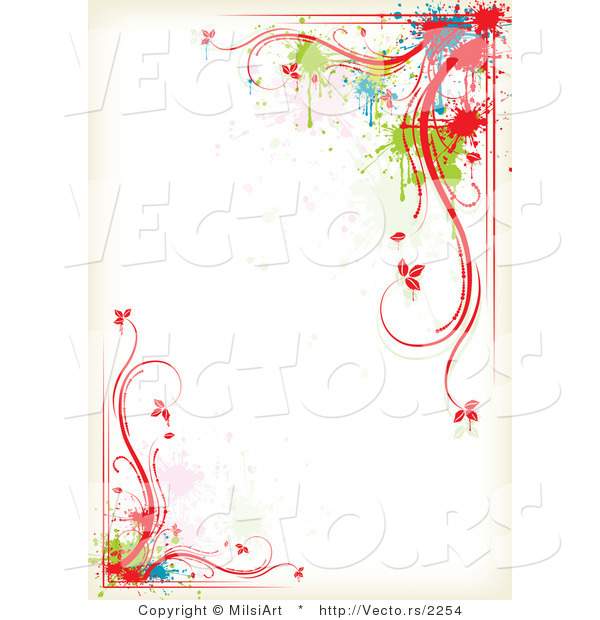 Color Splatter Vector Vector of Colorful Floral