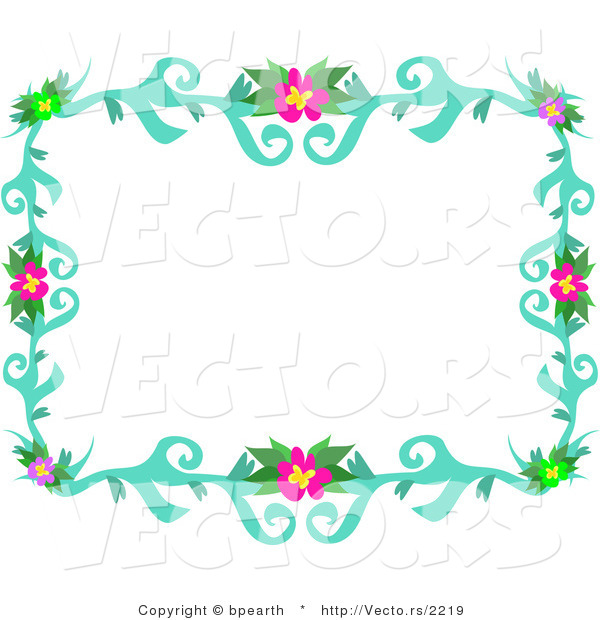 Vines Flowers Vector Vector of Colorful Flowering