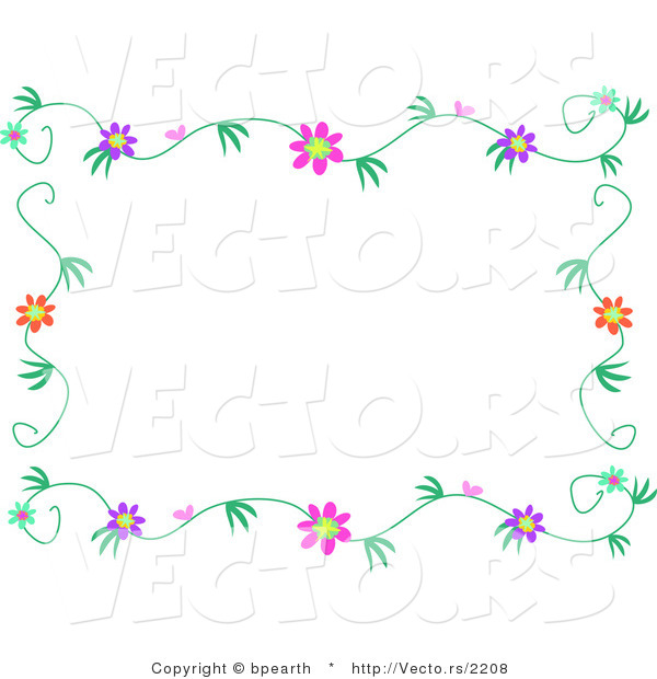 Vines Flowers Vector Vector of Colorful Flowers