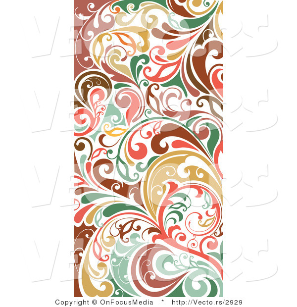 Vector of Colorful Vertical Flourish Border Border Background Design