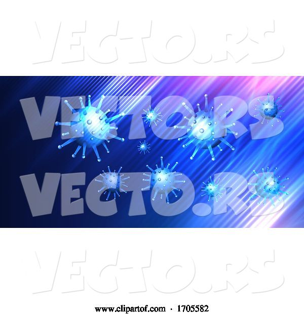 Vector of Covid 19 Virus Cell Medical Background