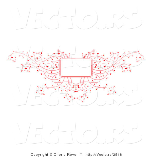 Vector of Decorative Pink Vines Background Frame Design