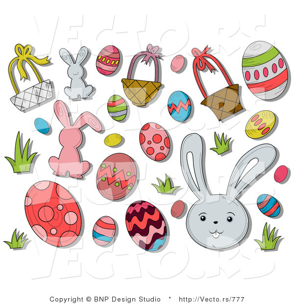Vector of Digital Collage: Easter Icons