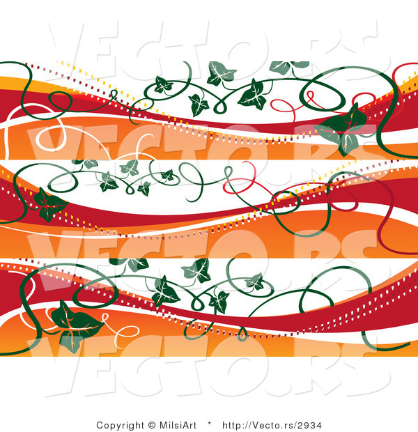 Vector of Fall Autumn Style Banners with Vines - Digital Collage Borders