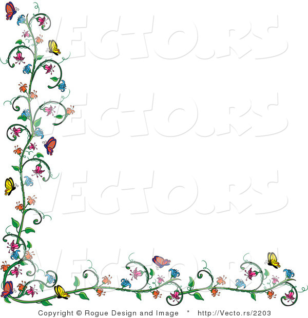 Vines Flowers Vector Vector of Flowering Vine And