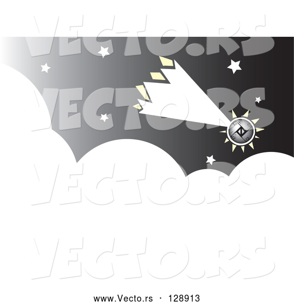 : Vector of Futuristic Comet Shooting Through the Night Sky
