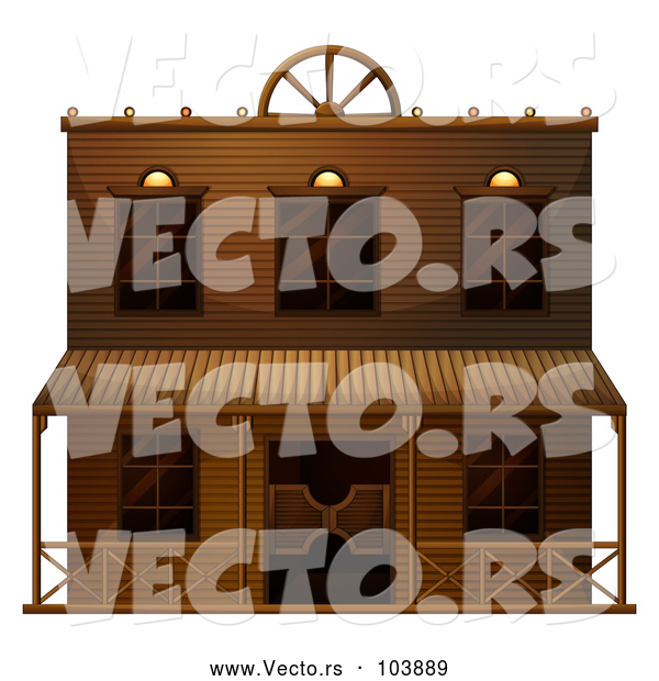 Vector of Ghost Town Saloon Building