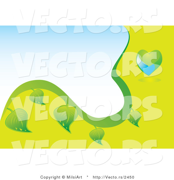 Vector of Green and Blue Globe and Leaf Eco Background - Version 2