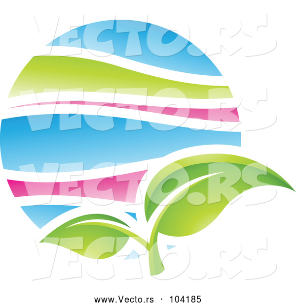 Vector of Green Plant Leaf in Spring
