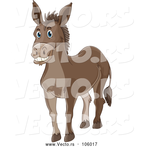 Vector of Happy Donkey