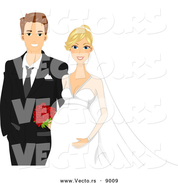 Vector of Happy Newly Weds