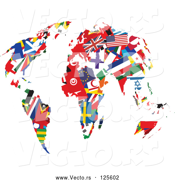 Vector of International Flag Continents